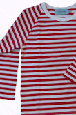 stripe t red & white