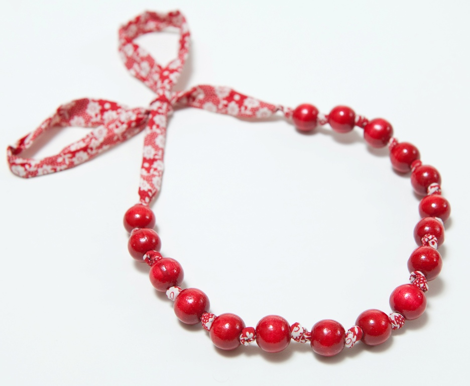 red beads on liberty