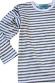 stripe t grey/white