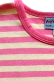 pink & cream stripe (long sleeve)